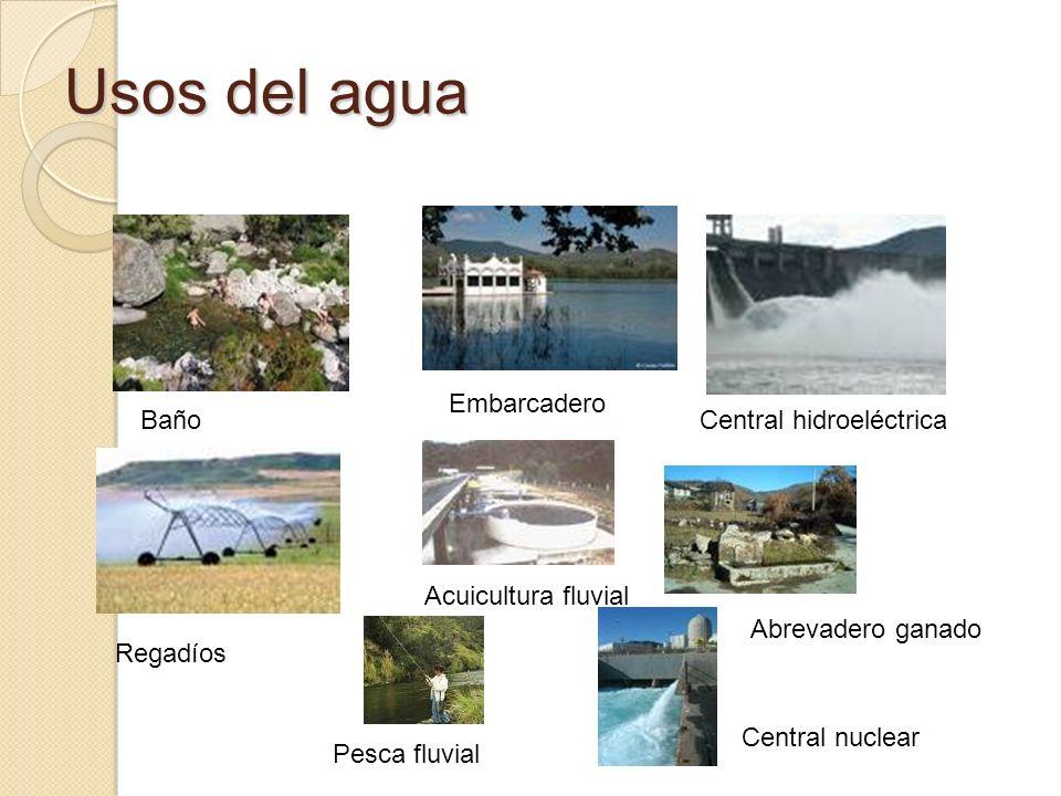 Usos del agua Embarcadero Baño Central hidroeléctrica