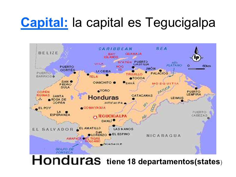 Capital: la capital es Tegucigalpa