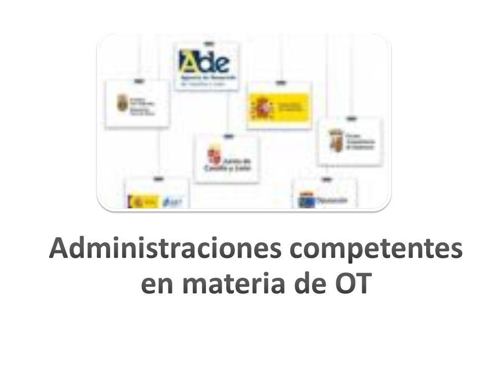 Administraciones competentes en materia de OT
