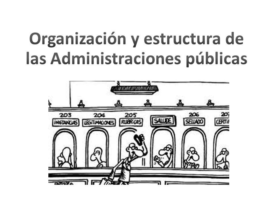 Organización y estructura de las Administraciones públicas