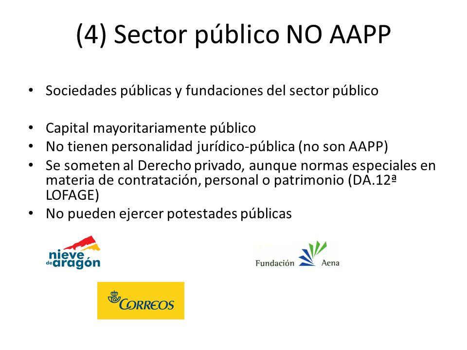 (4) Sector público NO AAPP