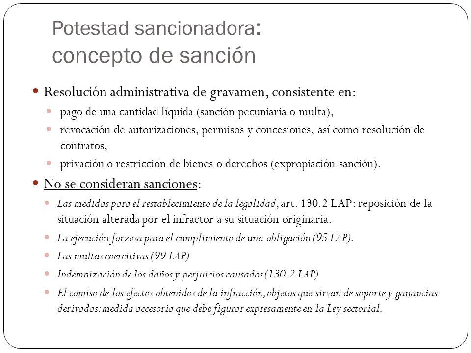 Potestad sancionadora: concepto de sanción