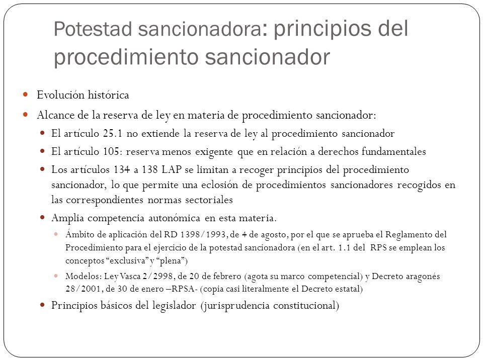 Potestad sancionadora: principios del procedimiento sancionador