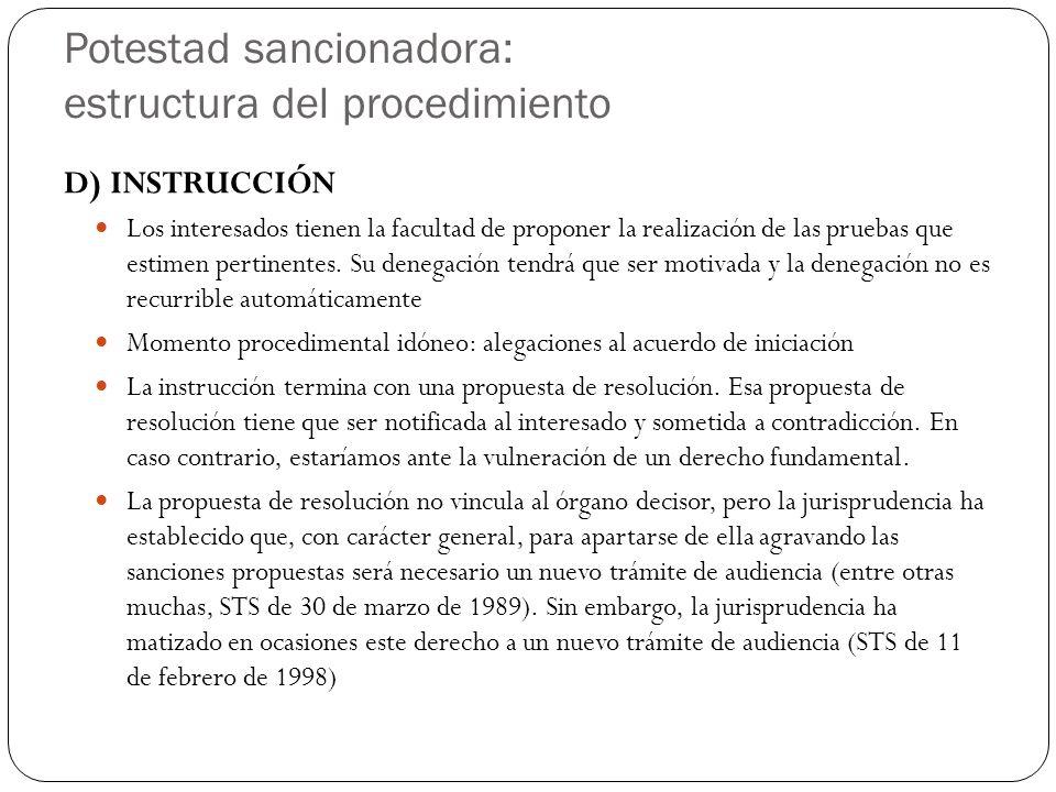 Potestad sancionadora: estructura del procedimiento