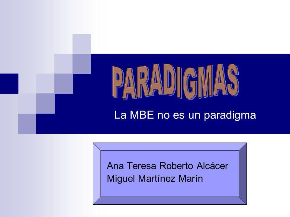La MBE no es un paradigma