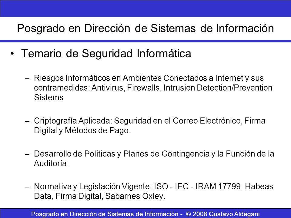 Posgrado en Dirección de Sistemas de Información