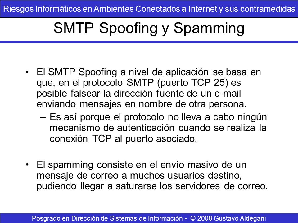 SMTP Spoofing y Spamming