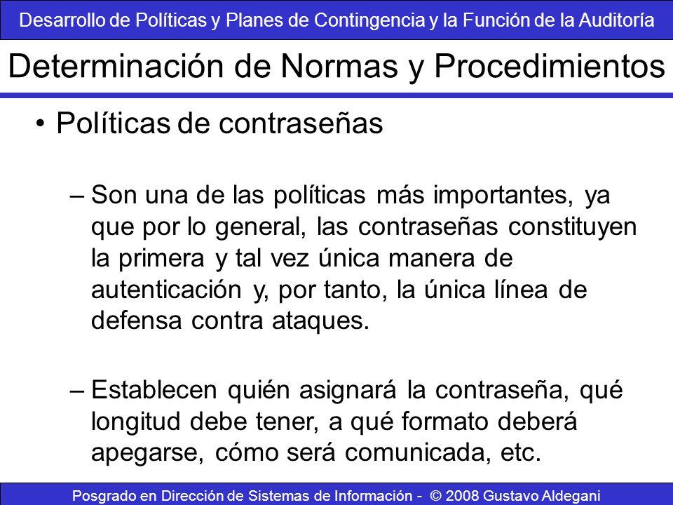Determinación de Normas y Procedimientos