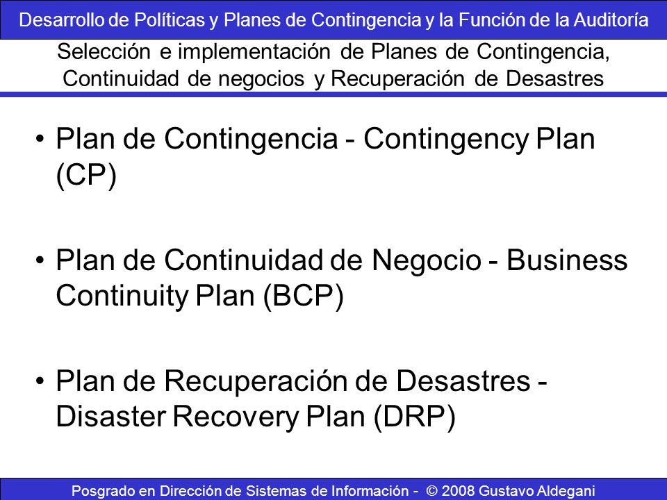 Plan de Contingencia - Contingency Plan (CP)
