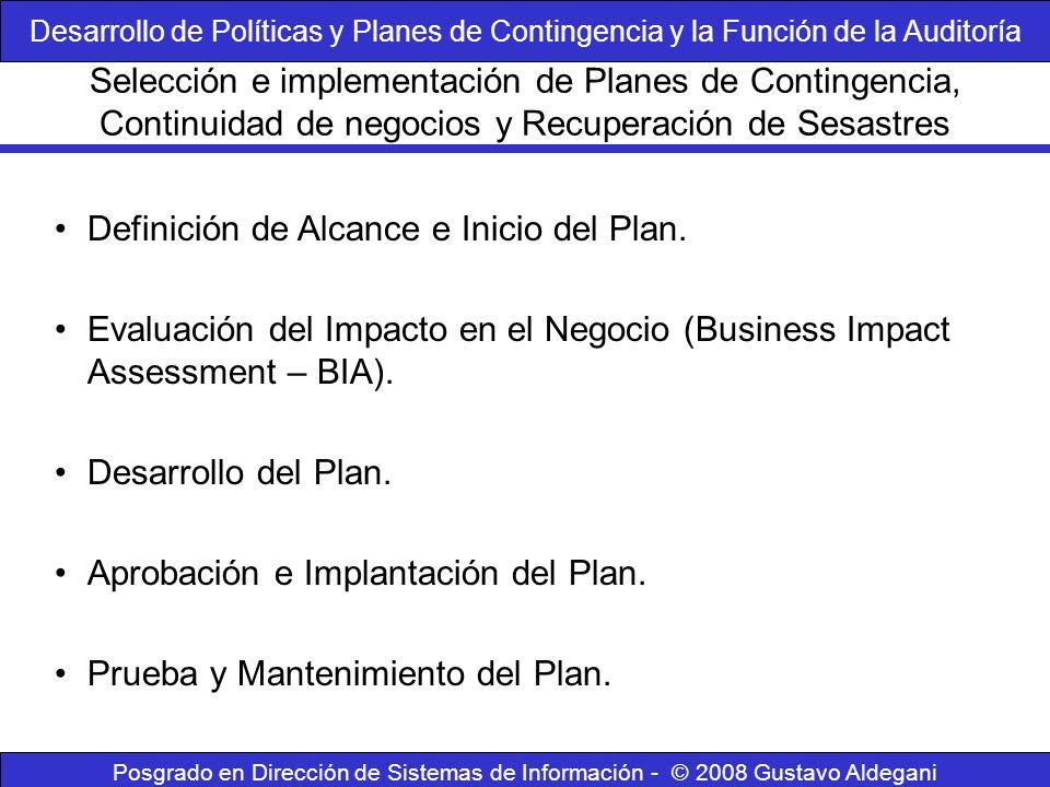 Definición de Alcance e Inicio del Plan.