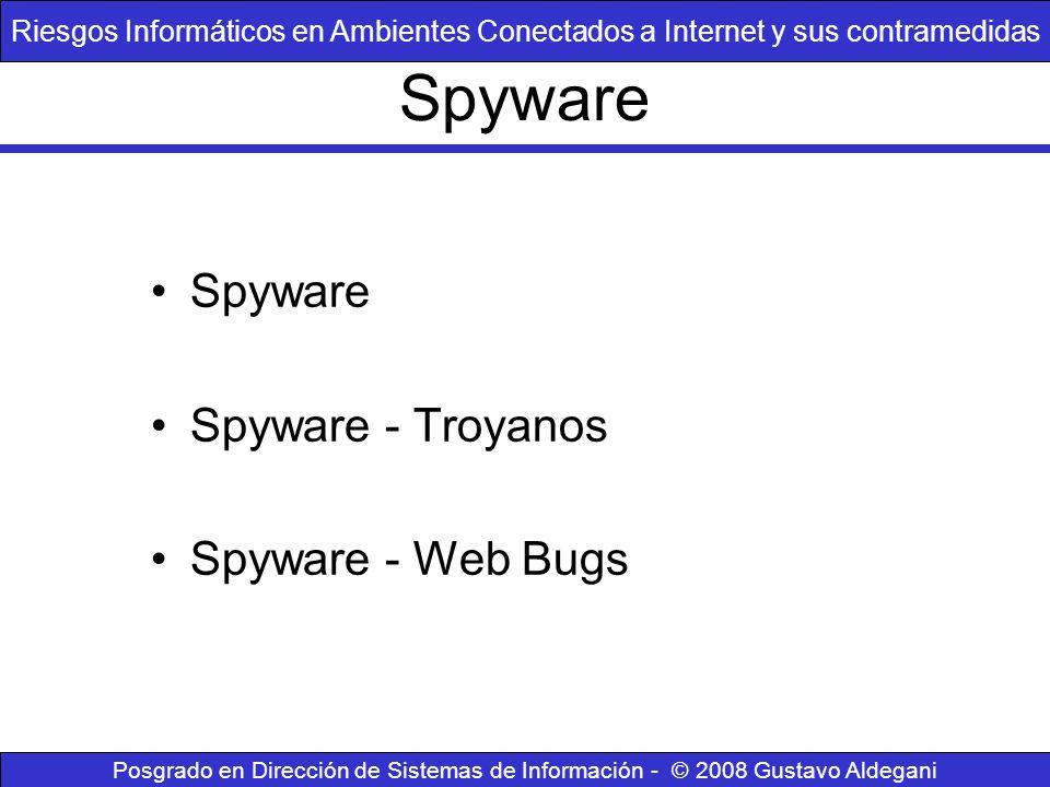 Spyware Spyware Spyware - Troyanos Spyware - Web Bugs