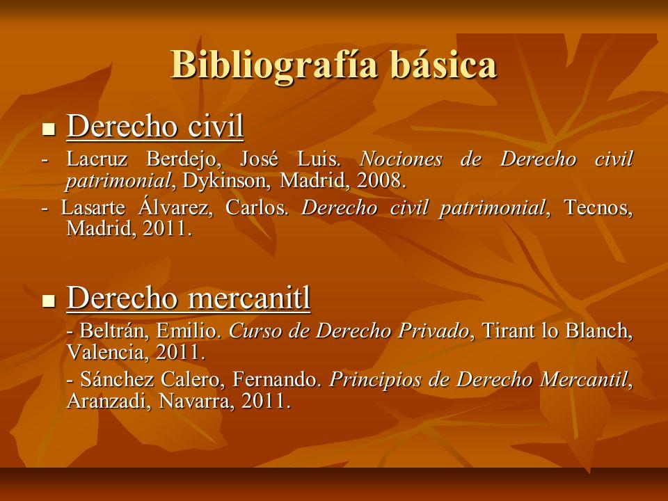 Bibliografía básica Derecho civil Derecho mercanitl