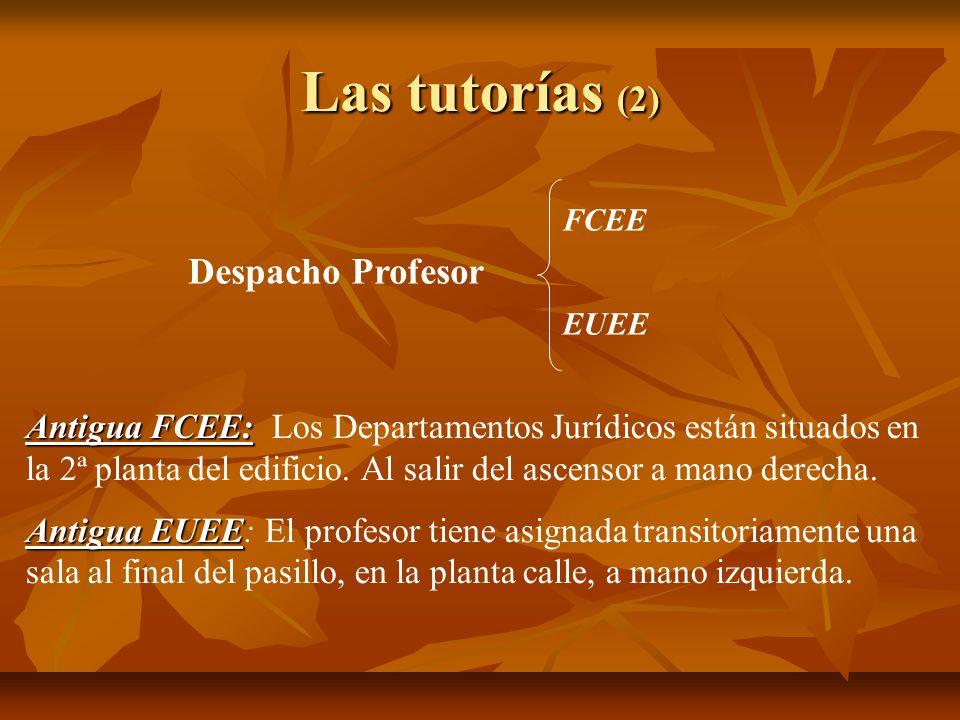 Las tutorías (2) Despacho Profesor
