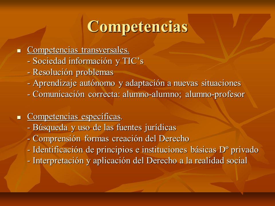Competencias Competencias transversales.
