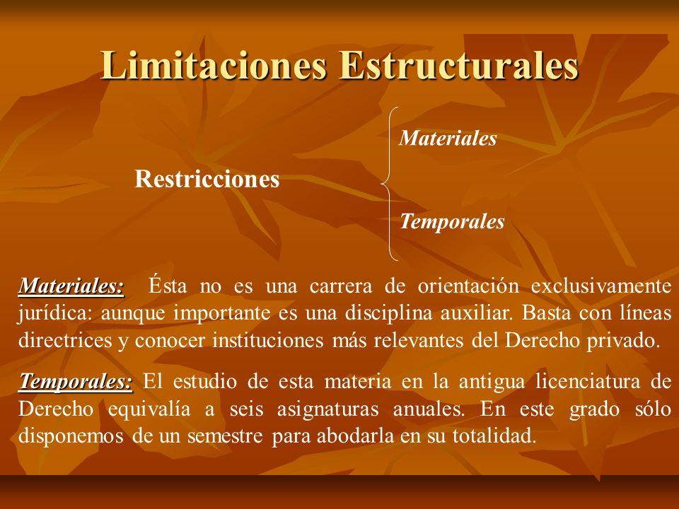 Limitaciones Estructurales
