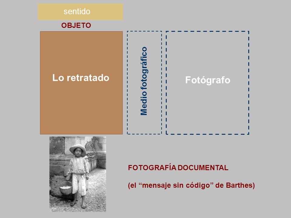 Lo retratado Fotógrafo sentido Medio fotográfico OBJETO