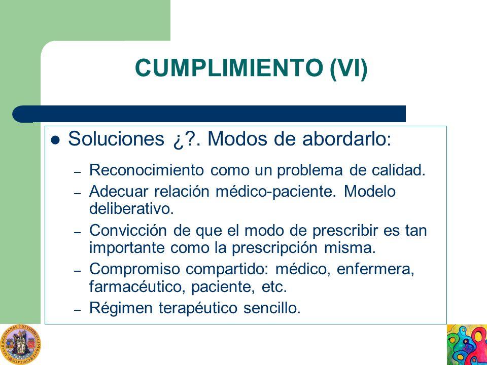 CUMPLIMIENTO (VI) Soluciones ¿ . Modos de abordarlo: