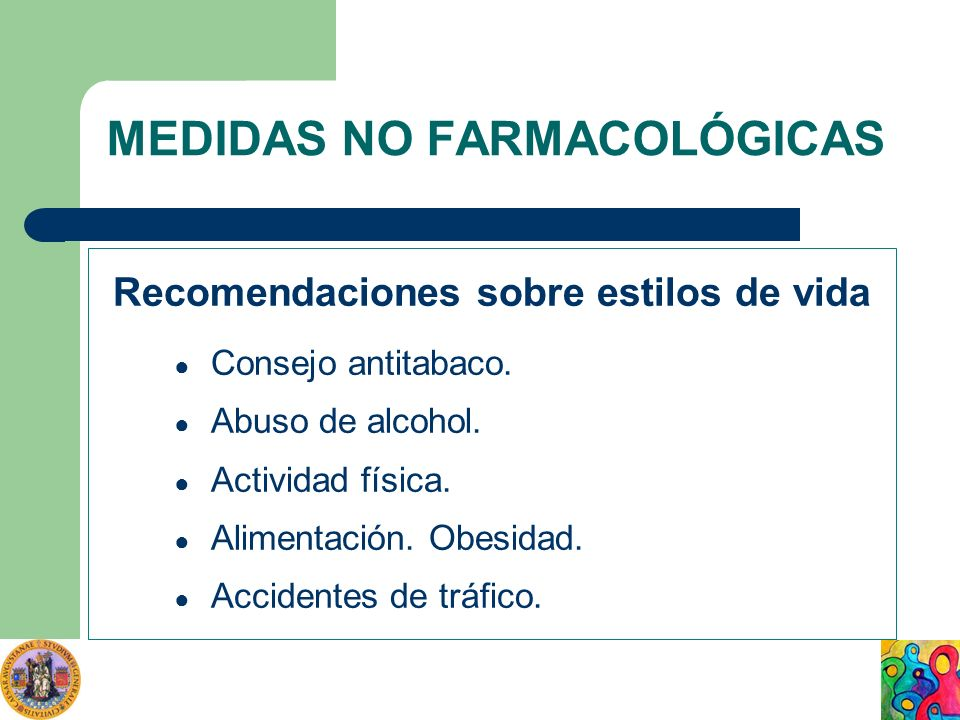 MEDIDAS NO FARMACOLÓGICAS