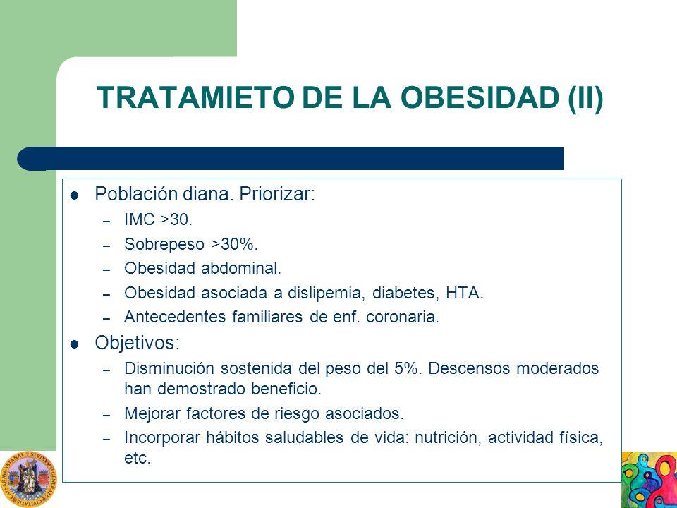 TRATAMIETO DE LA OBESIDAD (II)