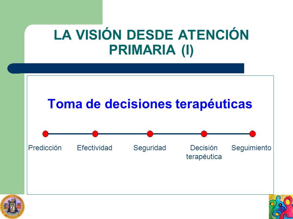 LA VISIÓN DESDE ATENCIÓN PRIMARIA (I)