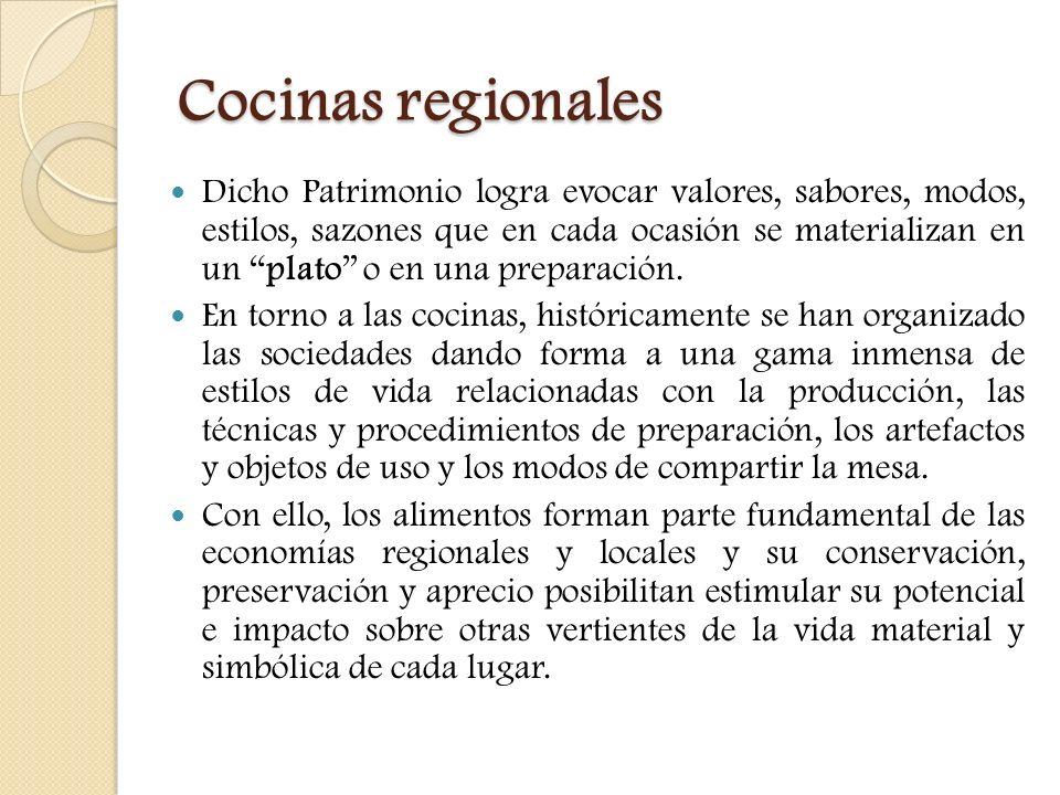 Cocinas regionales