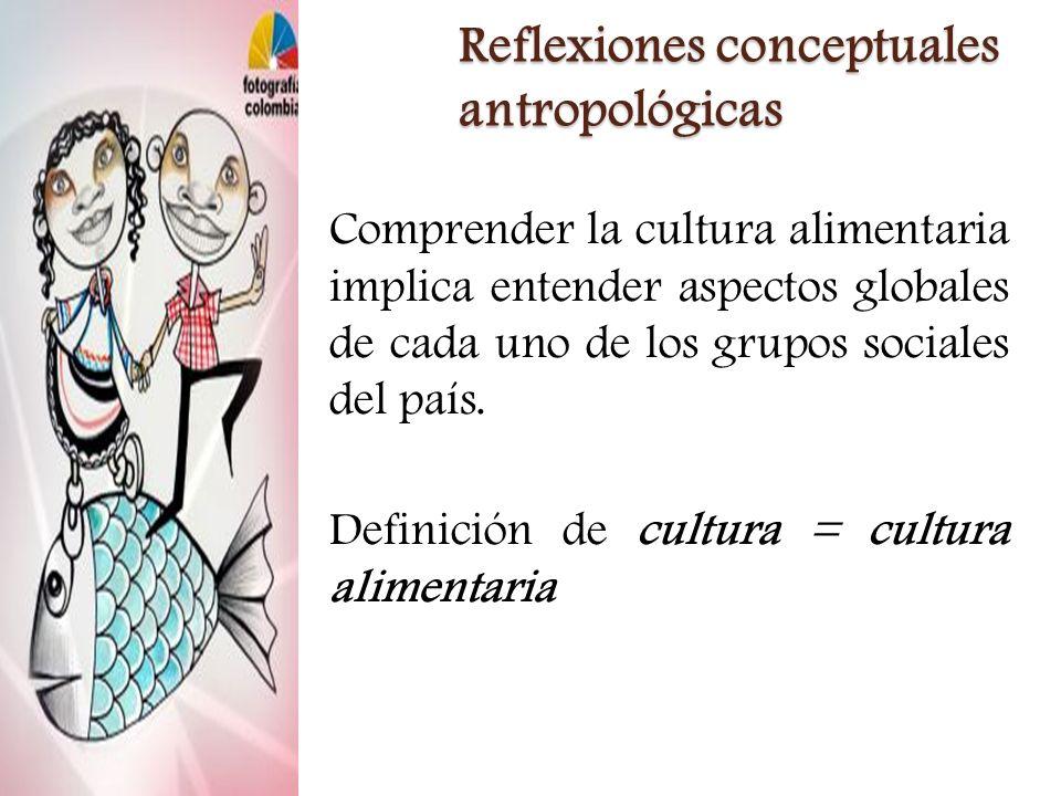 Reflexiones conceptuales antropológicas