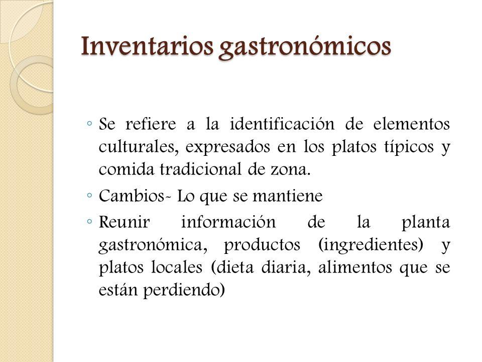 Inventarios gastronómicos