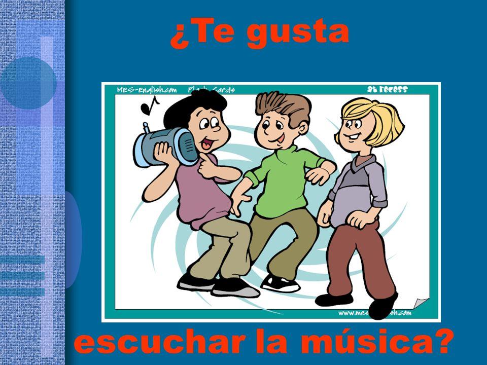 ¿Te gusta escuchar la música
