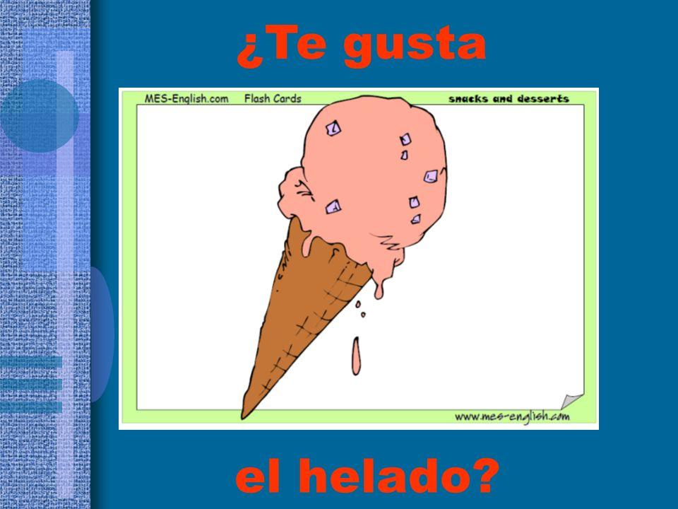 ¿Te gusta el helado