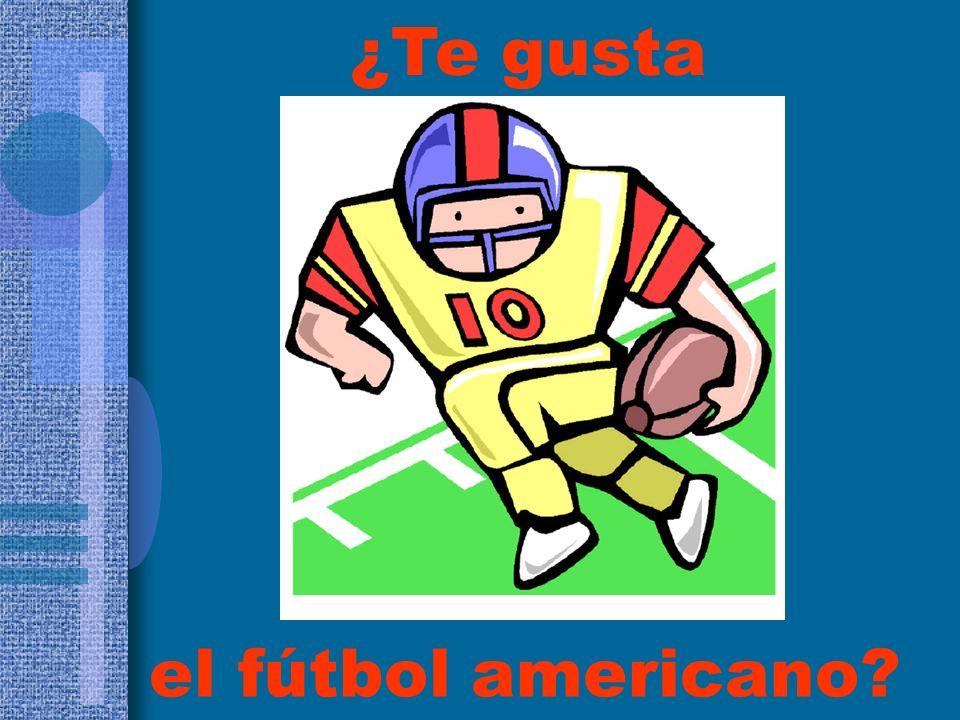 ¿Te gusta el fútbol americano