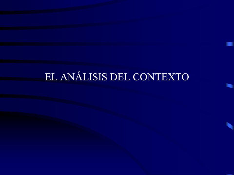 EL ANÁLISIS DEL CONTEXTO