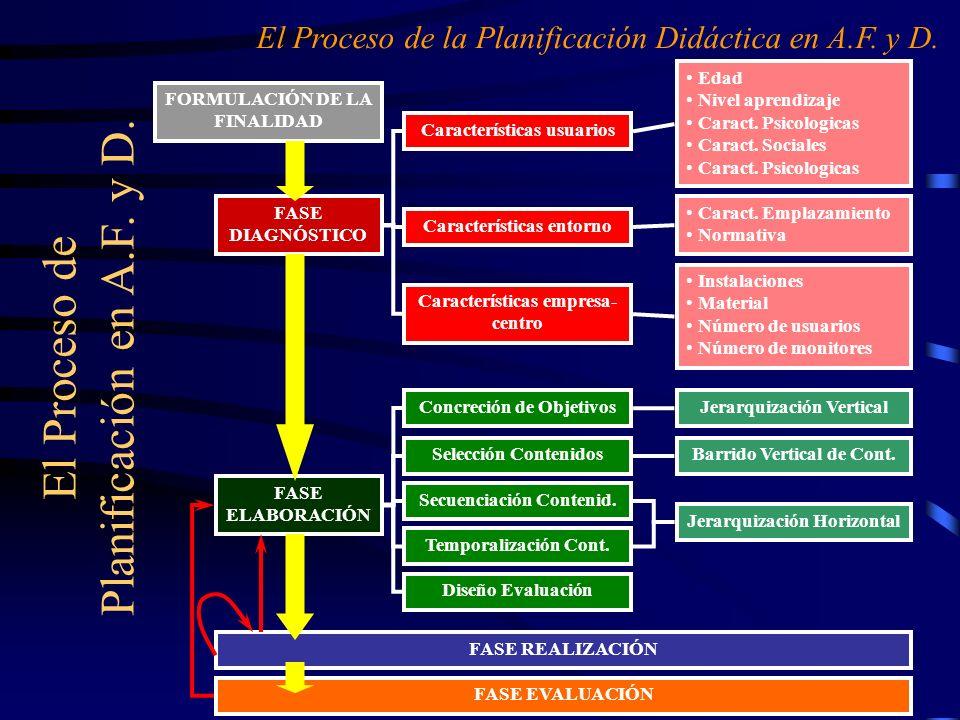 El Proceso de Planificación en A.F. y D.