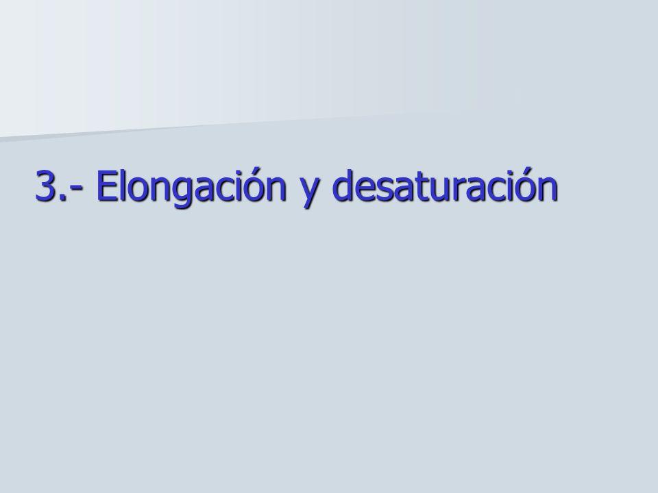 3.- Elongación y desaturación