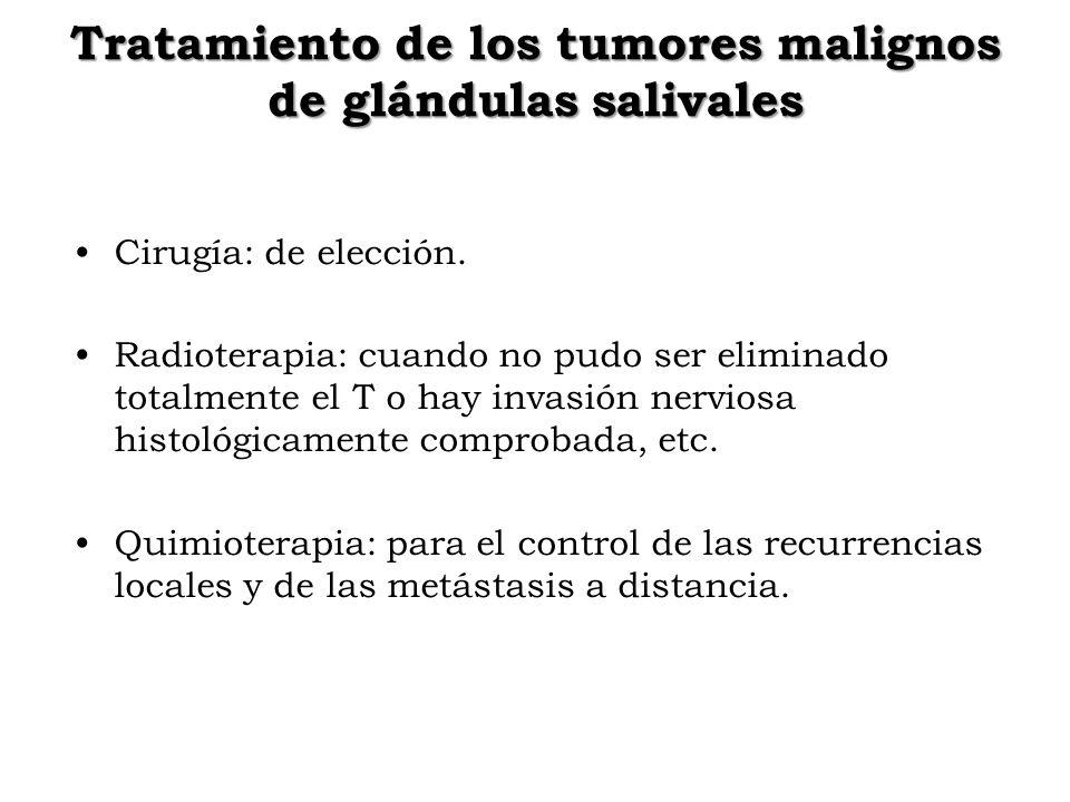 Tratamiento de los tumores malignos de glándulas salivales