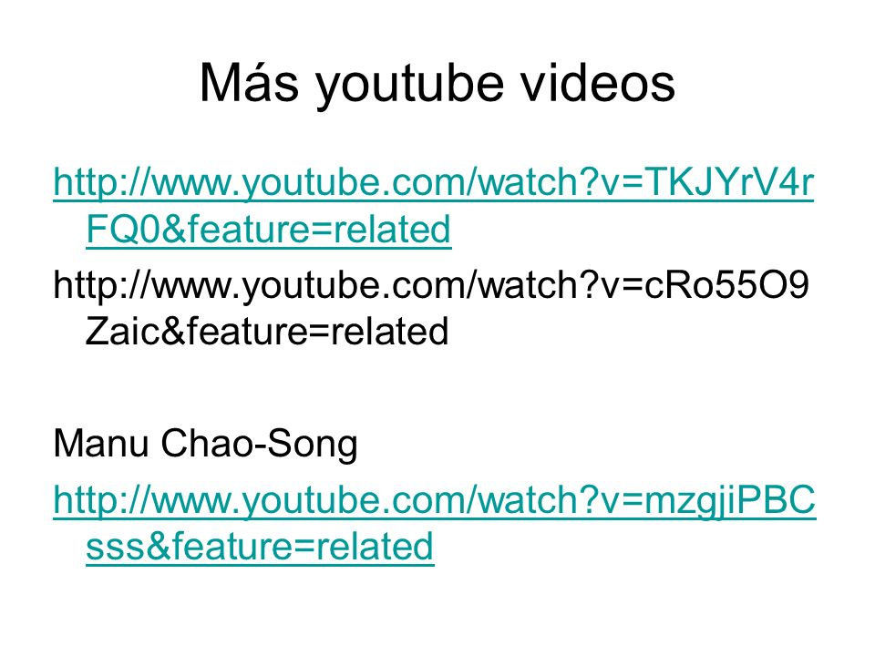 Más youtube videos   v=TKJYrV4rFQ0&feature=related.   v=cRo55O9Zaic&feature=related.