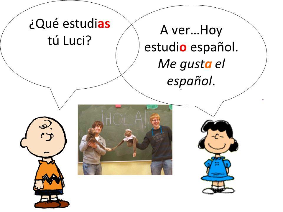 A ver…Hoy estudio español. Me gusta el español.