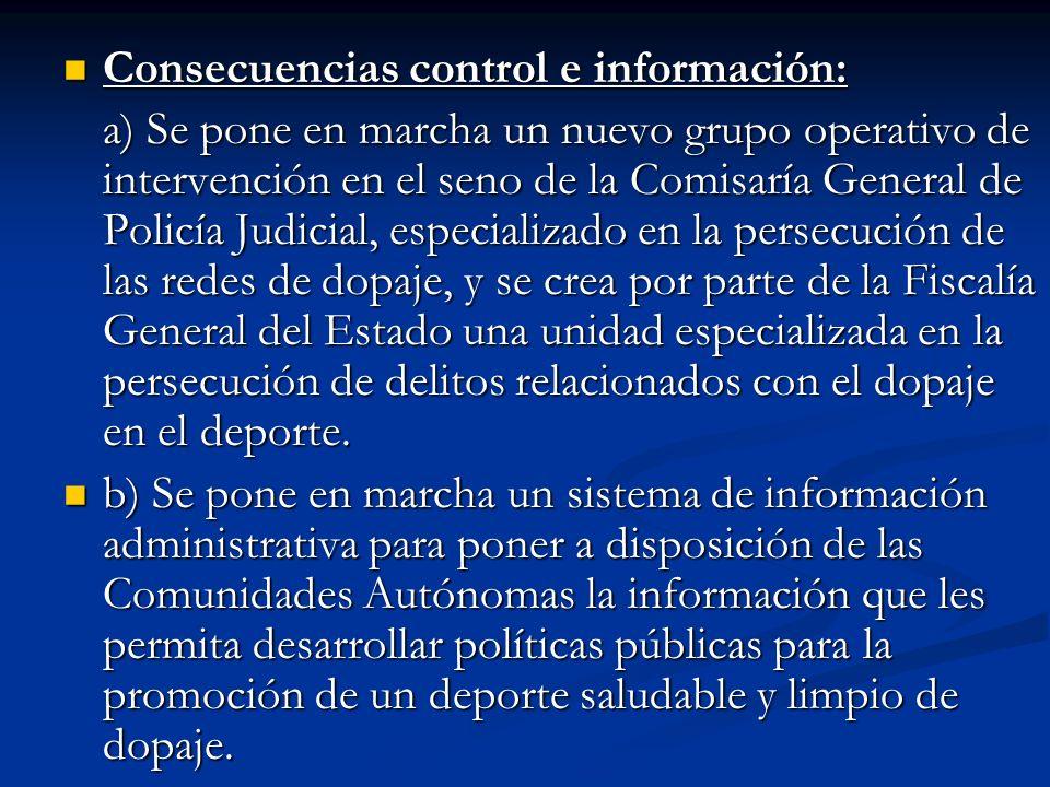 Consecuencias control e información: