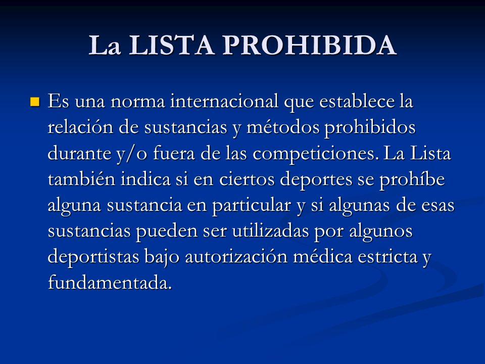 La LISTA PROHIBIDA