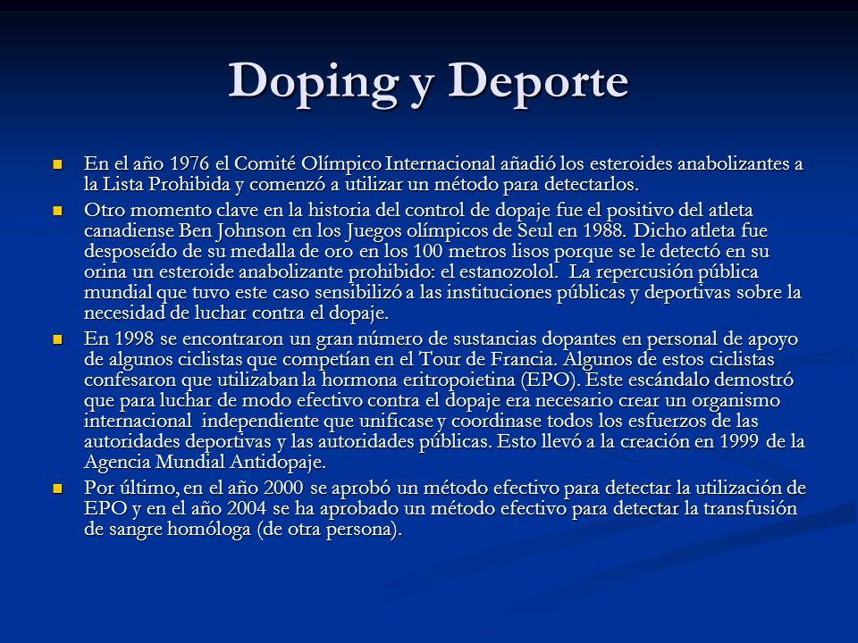 Doping y Deporte
