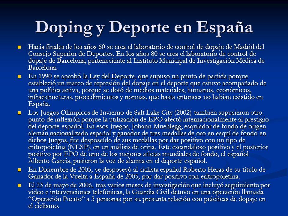 Doping y Deporte en España