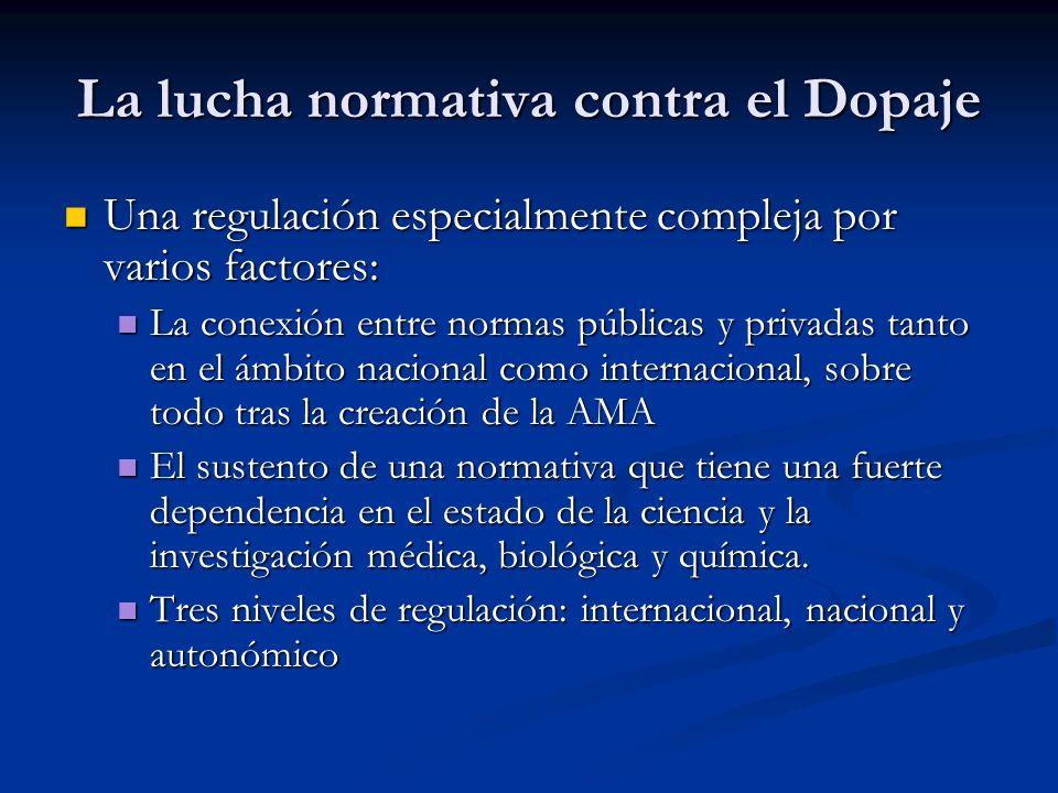 La lucha normativa contra el Dopaje