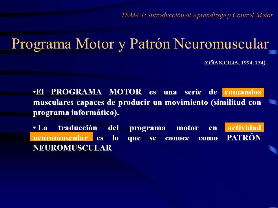 Programa Motor y Patrón Neuromuscular