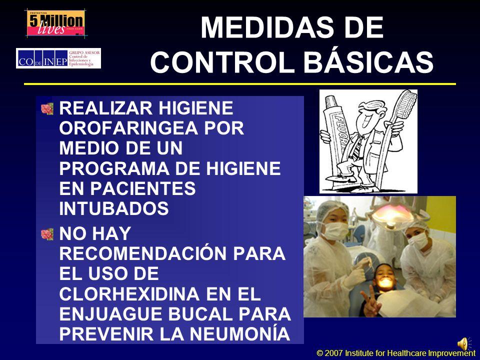 MEDIDAS DE CONTROL BÁSICAS