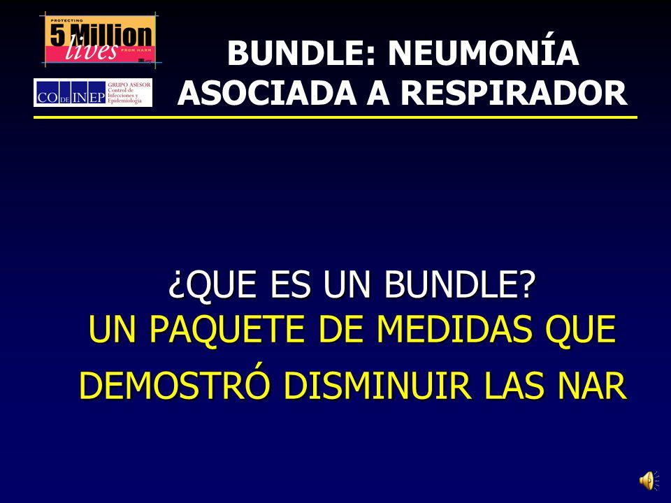 BUNDLE: NEUMONÍA ASOCIADA A RESPIRADOR