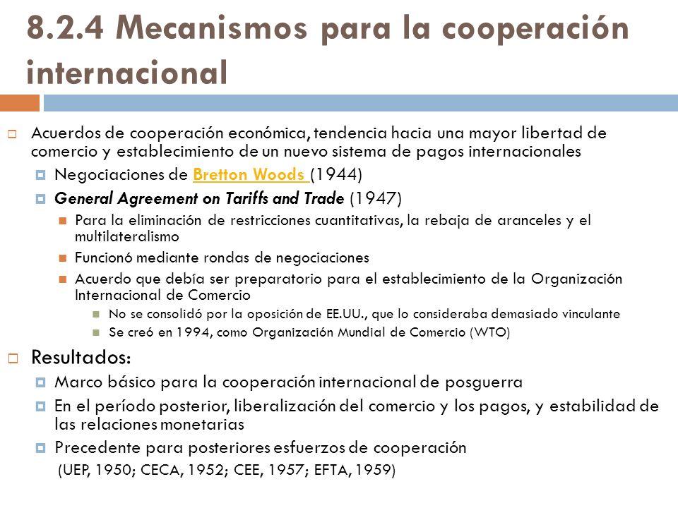 8.2.4 Mecanismos para la cooperación internacional