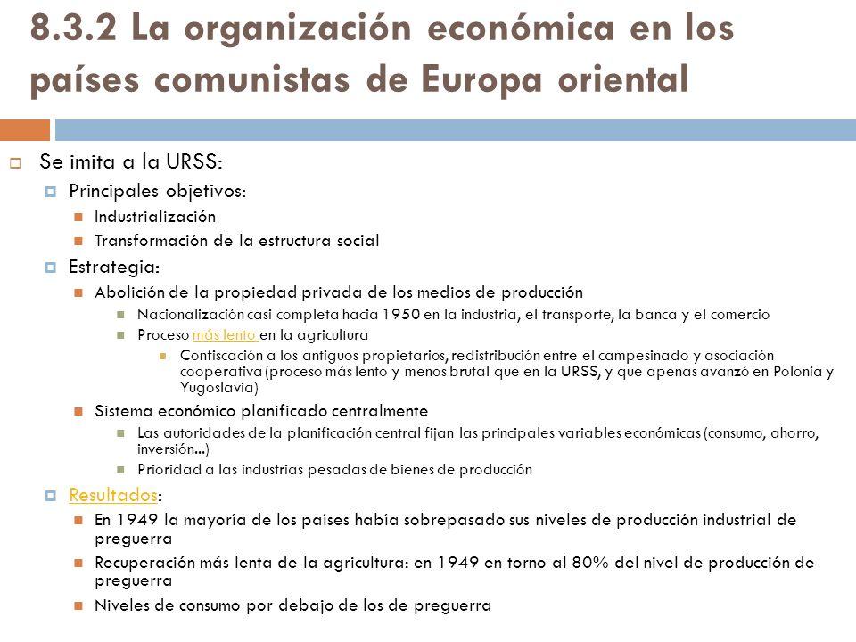 8.3.2 La organización económica en los países comunistas de Europa oriental