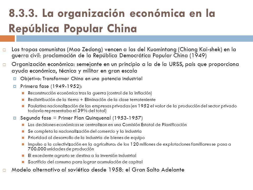 8.3.3. La organización económica en la República Popular China