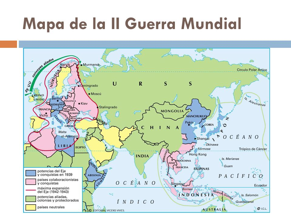 Mapa de la II Guerra Mundial