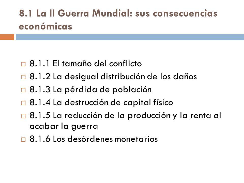 8.1 La II Guerra Mundial: sus consecuencias económicas