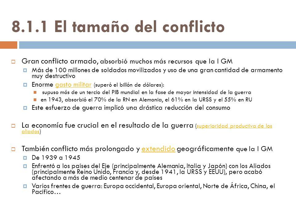 8.1.1 El tamaño del conflicto